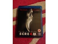 X1 Scream 4 Blu Ray. As New. Great For Halloween!