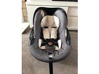stokke be safe black melange car seat from birth