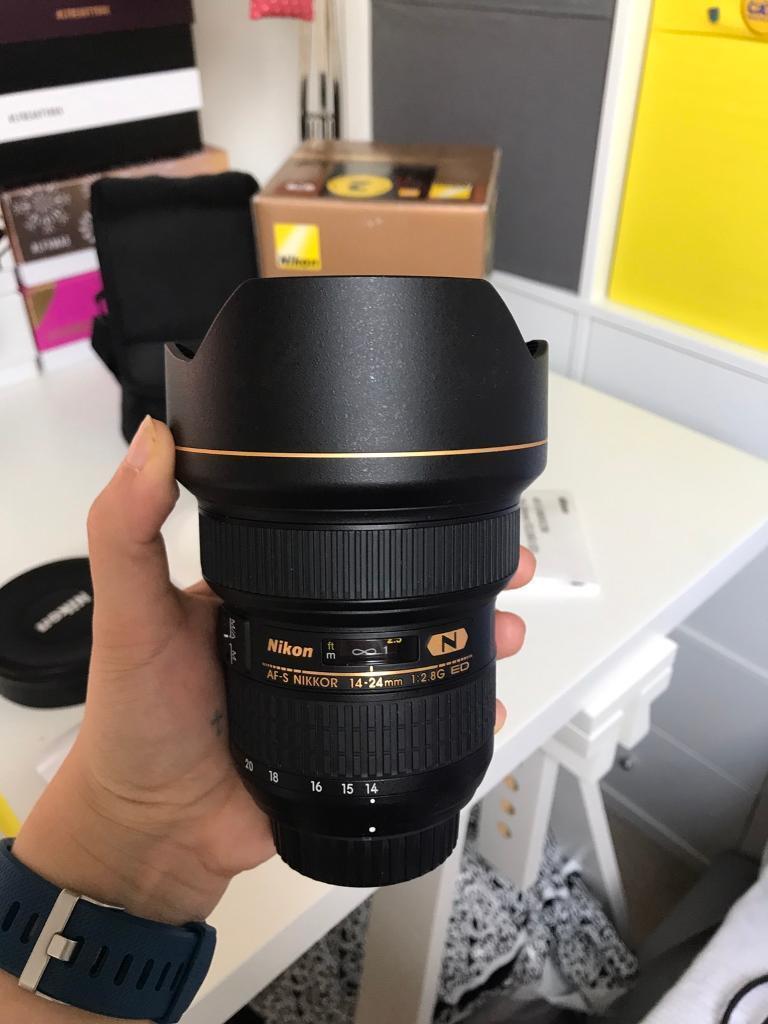 Nikon AF-S NIKKOR 14-24mm f/2.8G ED Wide Angle Lens Full Frame in ...