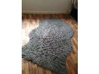 Sheep skin grey rug