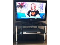 Samsung 32 Inch HD LCD TV, Sony DVD and TV stand package £65