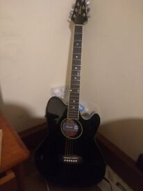 Ibanez semi acoustic guitar and case.