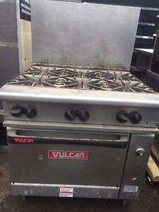 Vulcan 6 Burner Gas Stove with Oven