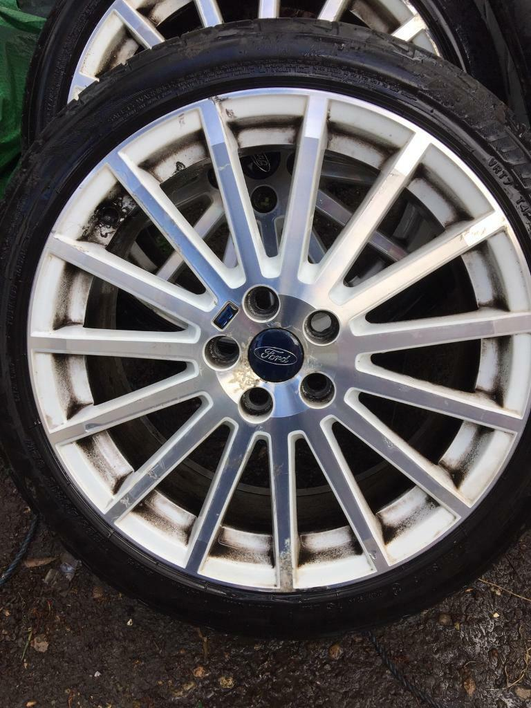 "Ford 18"" rs 5 stud focus connect alloy wheels x4"