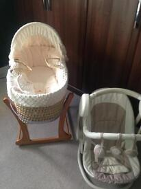 Moses basket and rocking chair
