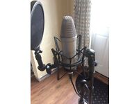 Rode NT1A Condensor Mic + M-Audio M-Track Audio Interface