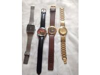 4 mens collectible dress watches all working