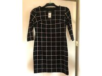 Size 12 Black checkered body con dress