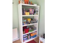 IKEA white bookcase shelving storage