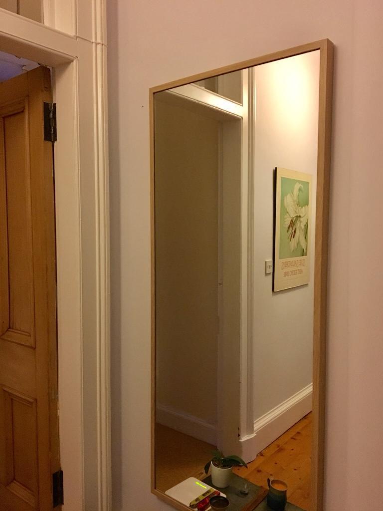 Ikea Nissedal Full Length Mirror 65x150 Cm Oak Effect In
