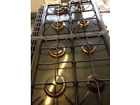 Gas range cooker in racing green - spares or repairs