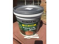 Ronseal fence paint x3 in Harvest Gold 9L