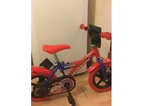 kids spider man bike
