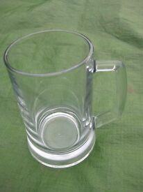 Large Crystal Glass Beer Mug