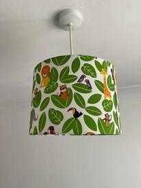Jungle theme lamp shade