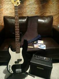 Electric Bass Guitar LH Outfit
