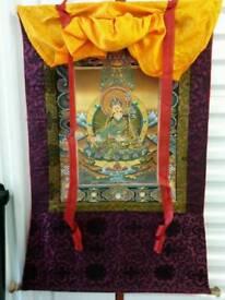 3 Tibetan paintings (thangkas)