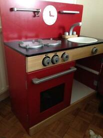 Red Wooden Play Kitchen originally from John Lewis