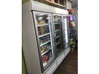 Shop freezer upright triple door
