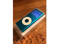 iPod Nano 4GB Electric Blue with Box, earphones and Cable