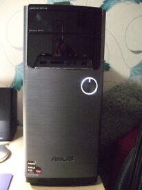 asus m32bf complete pc system windows 10 pro activated  samsung s24d590l  24 inch monitor