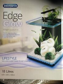 Brand new edge glow aquarium