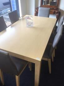 Selection of tables and chairs from £120