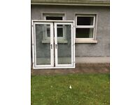 UPVC white Doubles Doors and frame