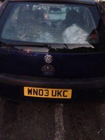 Vauxhall Corsa 1.2 SXI 4 door 03 plate