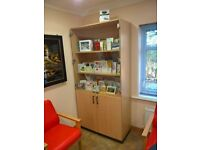 Large Display Lockable Cabinet with Glass Doors and Lock with Smaller Doors Beneath