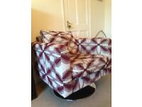 DFS chair with scatter cushion