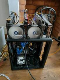 Miner x4 1080gtx NVIDIA bitcoin btc ethereum Eth mining rig