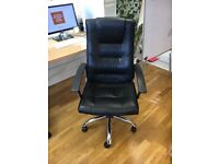 Black Leather Office Chair x2