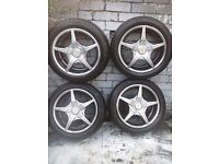 "alloy wheels wolfrace 15"" fit Peugeot 206"