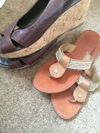 Next leather sandals size 6
