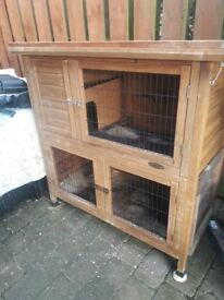 Rabbit/guinea pig hutch and accessories