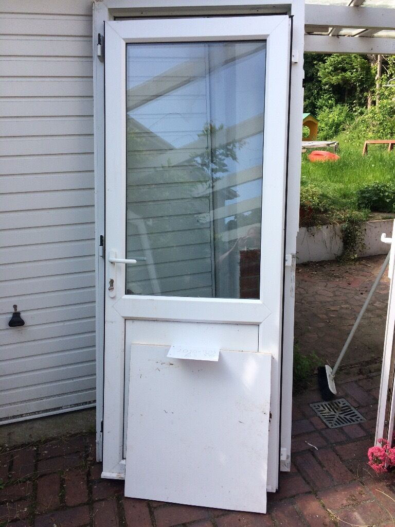 UPVC Door 2070mm high by width 890mm or 905mm (15mm frame ext ) £65 ...