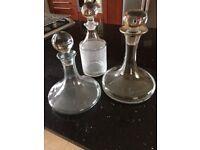 3 glass wine decanters