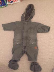 Snowsuit. 3-6 month. John rocha.