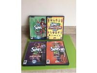 Sims 2 expansion packs x4(Great value)