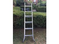 Chrome triple box set extention ladder