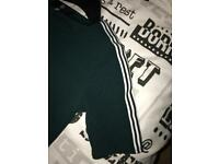 Green dress with stripe detail