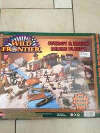 Cowboys and Indian playset