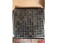 Black Glass Stripe Mosaic Tiles