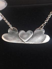 Silver finger print jewellery