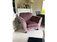 M&S velvet chair
