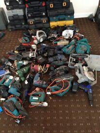 Job lot of power tools