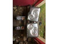 Range Rover vogue pair of headlights and indicators