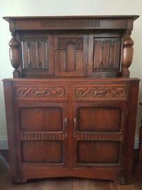 Antique Court Cupboard Sideboard
