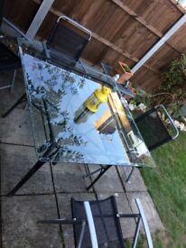 Indoor/ Outdoor Authentic glass table